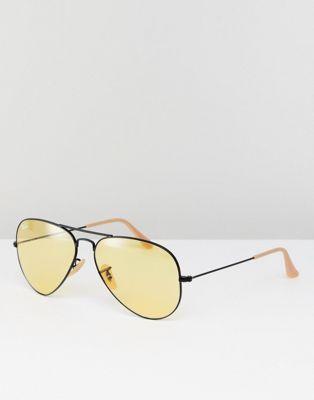 Солнцезащитные очки-авиаторы с желтыми стеклами 58 мм Ray-Ban 0RB3025