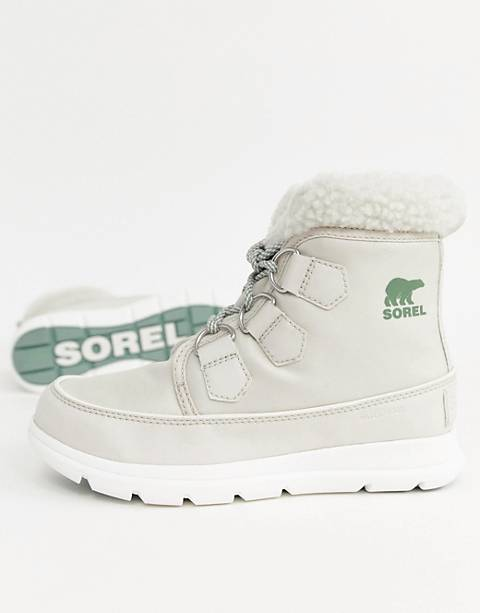 Sorel Explorer Carnival Waterproof Nylon Boots With Microfleece Lining