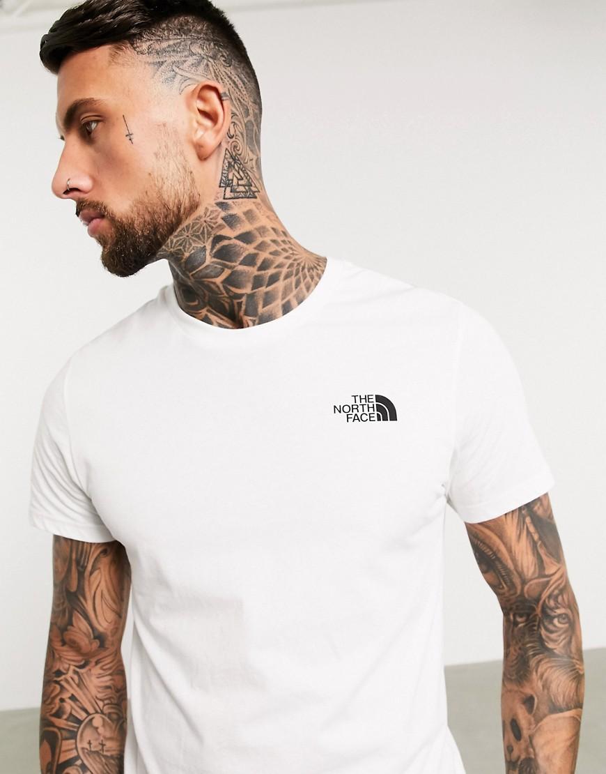 Sort simpel T-shirt med kuppelsnit fra The North Face-Hvid