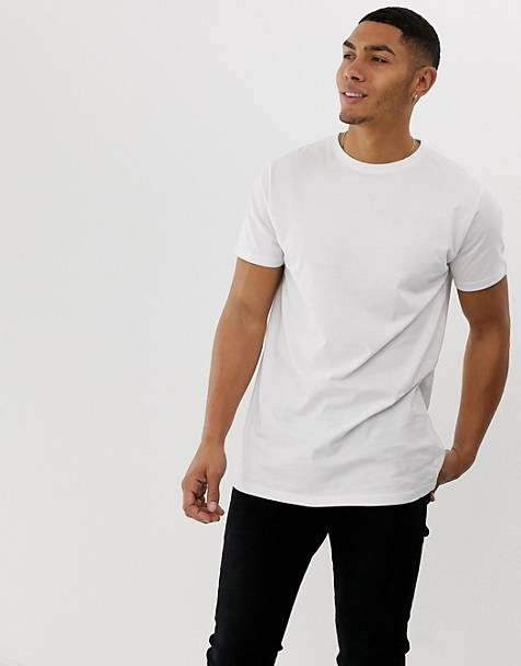 Soul Star longline t-shirt in white