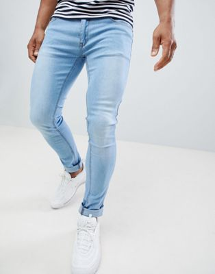 Image 1 of Soul Star Skinny Fit Jeans in Light Blue Wash