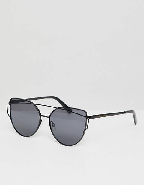 South Beach Cat Eye Sunglasses With Brow Bar