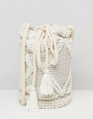 Image 1 of South Beach Drawstring Shoulder Bag In Natural