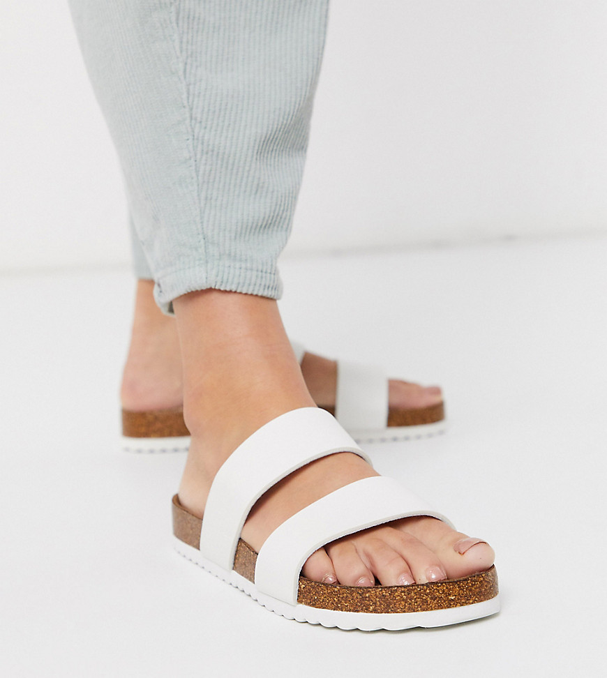 Sandals by South Beach Coming soon to your Saved Items Two-strap design Slip-on style Open toe Moulded footbed Exclusive to ASOS