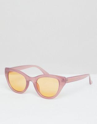 South Beach - Lunettes de soleil yeux de chat à verres teintés en orange - Rose