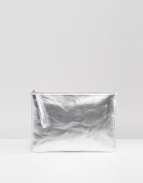 South Beach Metallic Clutch Bag
