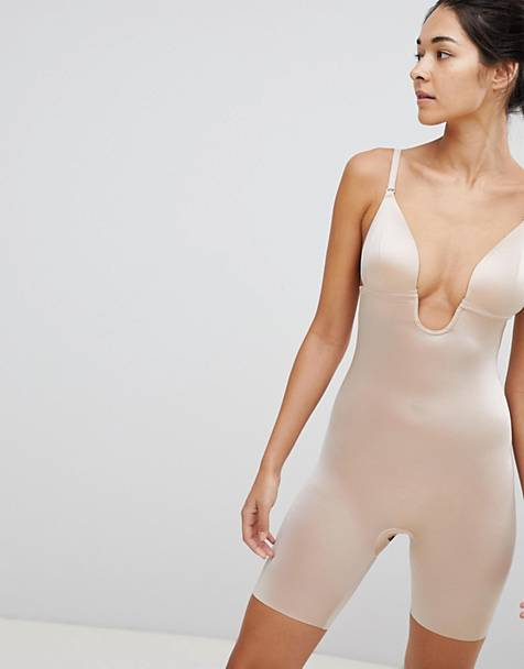 Spanx Suit Your Fancy Low Back Mid Thigh Smoothing Body