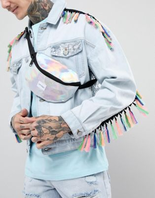 Spiral Silver Rave Fanny Pack