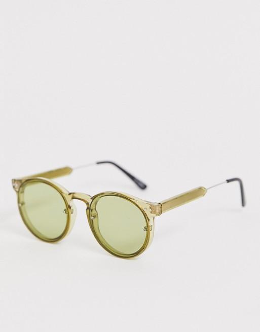 Spitfire - Post Punk - Ronde zonnebril in groen