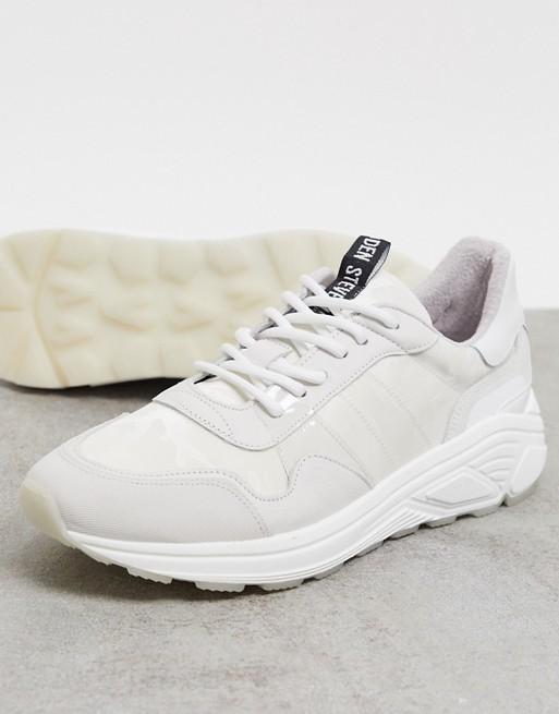 Steve Madden – Białe skórzane buty sportowe na grubej podeszwie