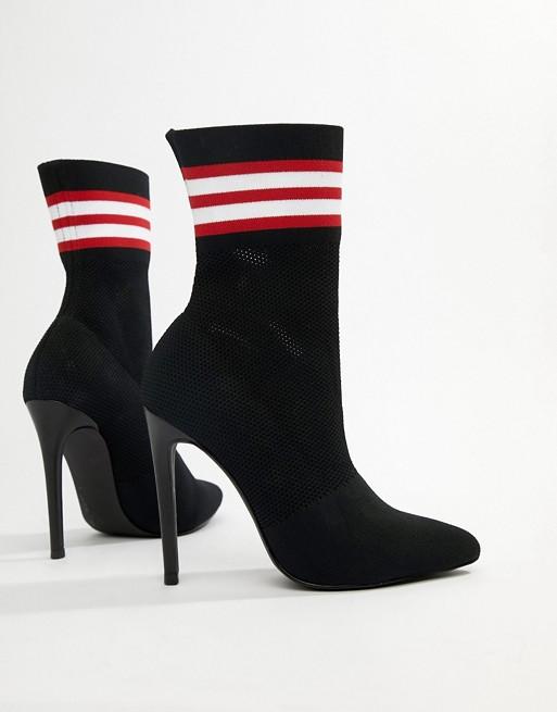 Bild 1 von Steve Madden – Century – Schwarze Ankle-Boots mit Streifen