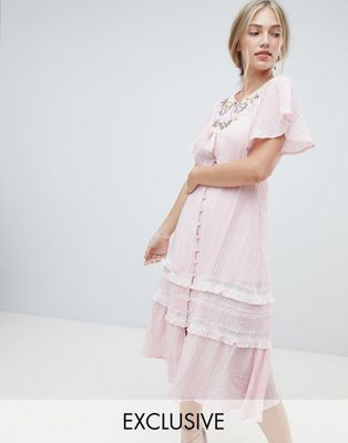 Stevie May Exclusive Agathe embroidered midi dress