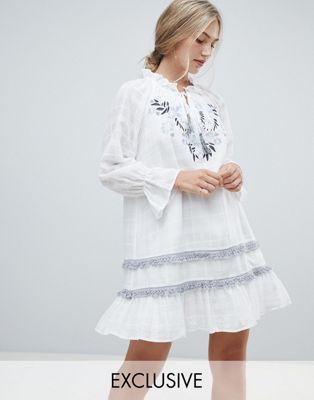 Stevie May Exclusive Benita embroidered mini dress