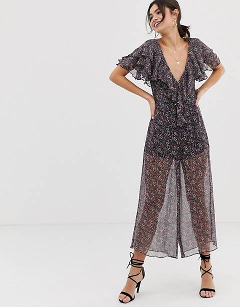 Stevie May Gazelle floral print sheer jumpsuit