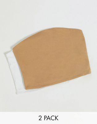 Stradivarius stretch vest top with wide straps in black - ASOS Price Checker