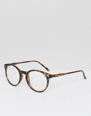Stradivarius Clear Lens Glasses In Brown