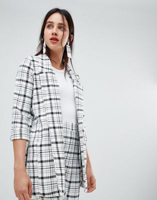 Stradivarius grid check blazer