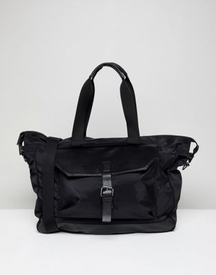 Stradivarius Holdall In Black