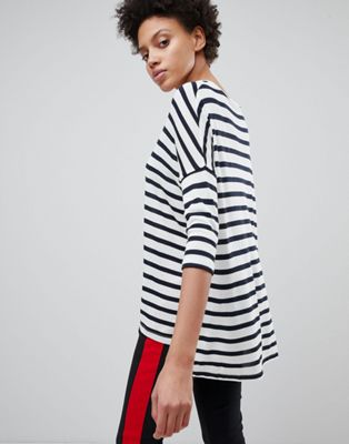 Stradivarius Lightweight Oversized Stripe Top
