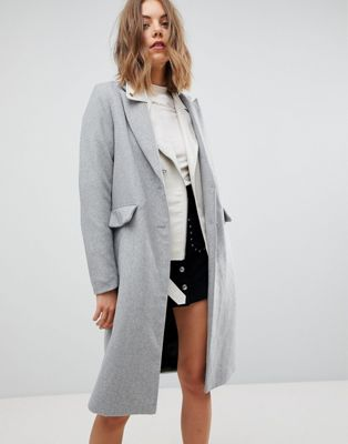 Stradivarius Longline Smart Coat