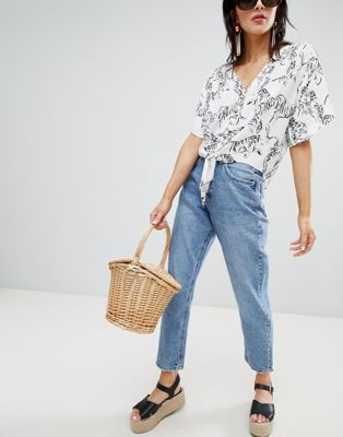 Stradivarius mom fit jean