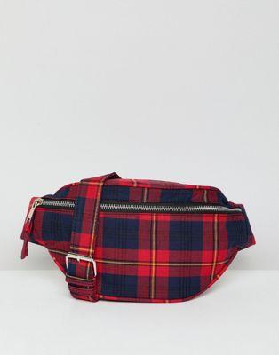 Stradivarius - Sac ceinture à carreaux écossais