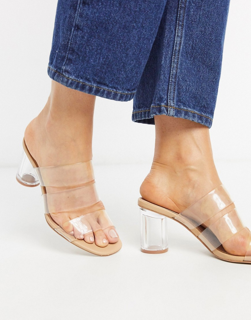 Sandals by Stradivarius Coming soon to your Saved Items Slip-on style Open toe Block heel