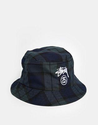 d81750a1f7504 Image 1 of Stussy Plaid Bucket Hat