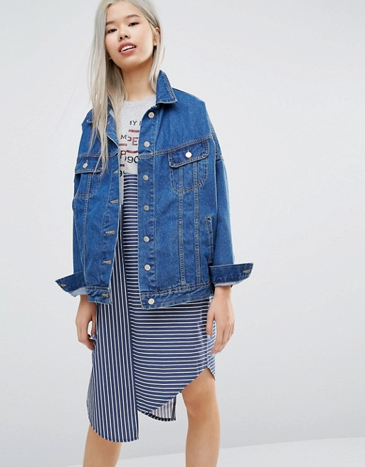 STYLENANDA Oversized Denim Jacket