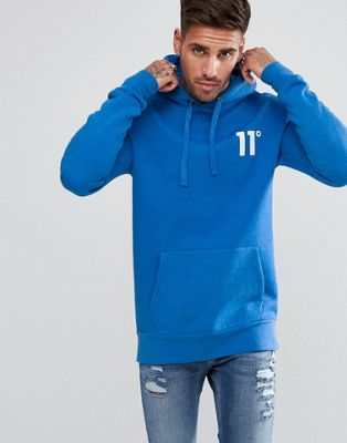 11 Degrees Sudadera azul con capucha de 11 Degrees Tops Distinctive pGpSqjmS