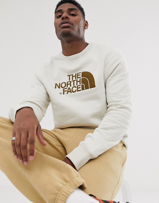 Sudadera con cuello redondo en blanco vintage Drew Peak de The North Face