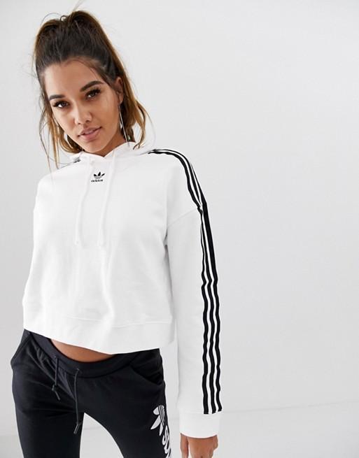 De Capucha Adicolor En Originals Corta Blanco Con Adidas Sudadera odCBex