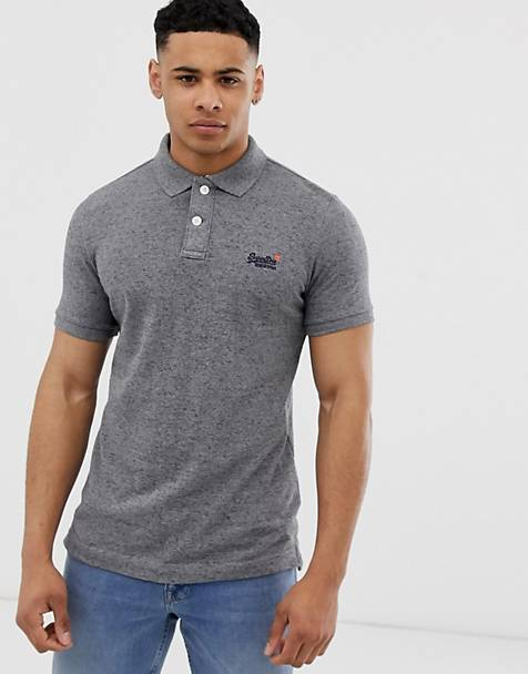 Superdry classic polo in gray