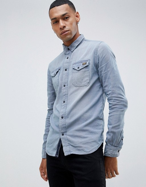 Image 1 of Superdry dragway denim shirt