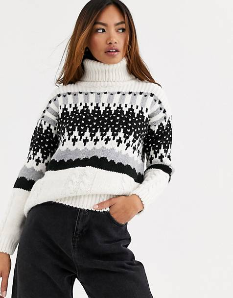 Superdry Gia intarsia slouchy knit sweater