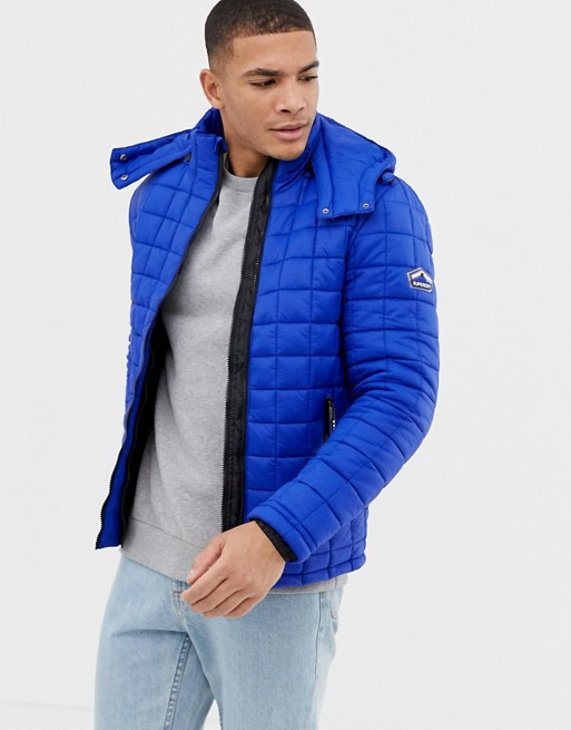 Superdry hooded quilted jacket