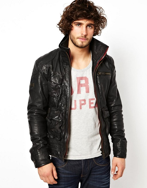 ee1ff8ec38d3 Superdry Leather Jacket | ASOS