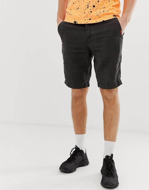 Image 1 of Superdry linen chino shorts