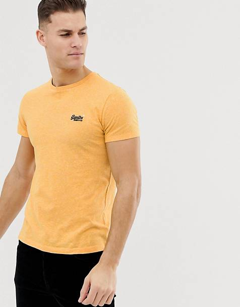 Superdry logo marl t-shirt in yellow