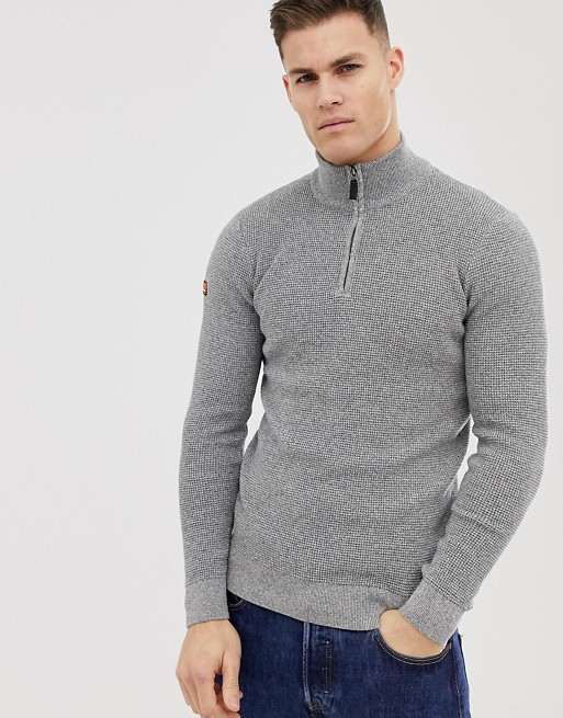 Immagine 1 di Superdry - Maglione grigio con zip corta