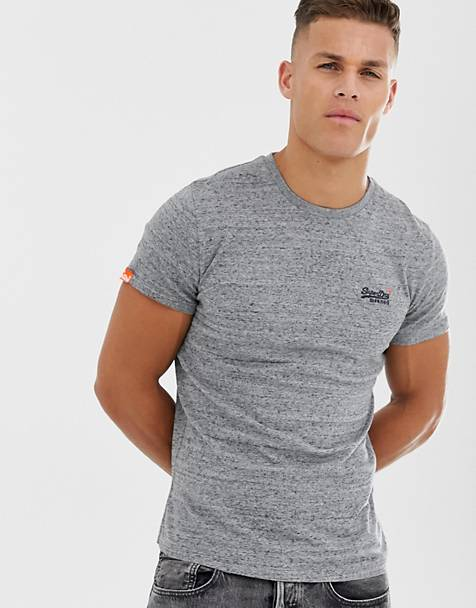Superdry Orange t-shirt in gray