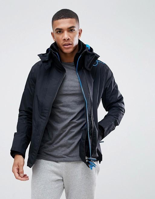 Bild 1 von Superdry – Schwarze Jacke mit Reißverschluss