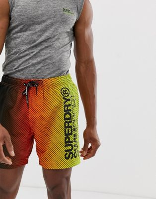 Image 1 sur Superdry Sport - Short de bain en dégradé - Orange