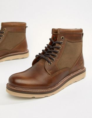 Superdry stirling sleek lace-up boots in distressed tan