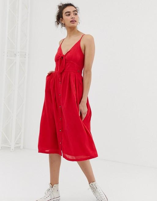Superdry tie front dress