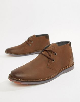 Superdry winter rallie desert boots in tan