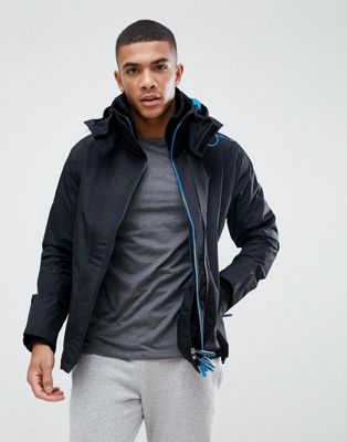 Superdry zip through jacket in black