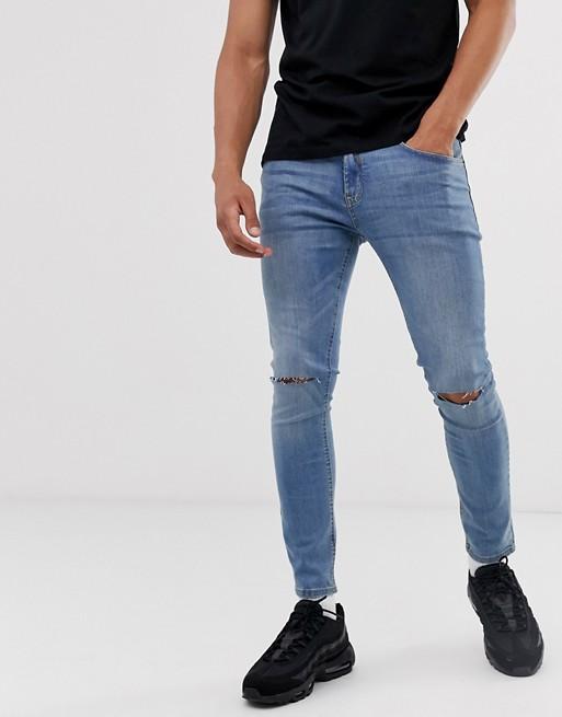 Изображение 1 из Супероблегающие джинсы с дырками на коленях Pull&Вear