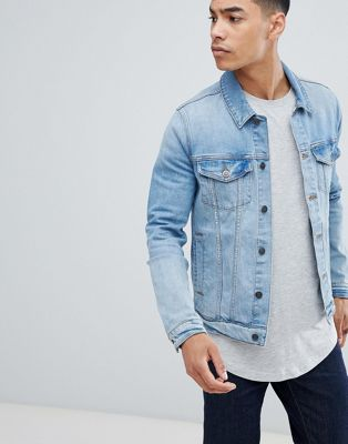 Светлая облегающая джинсовая куртка ASOS DESIGN