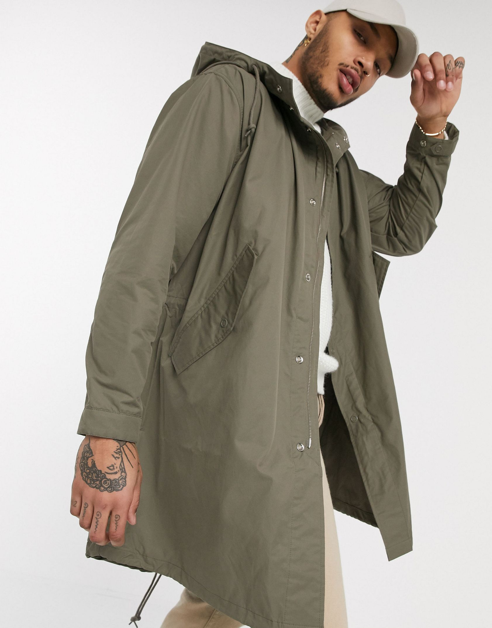 Fred Perry lightweight parka in light brown -  Price Checker
